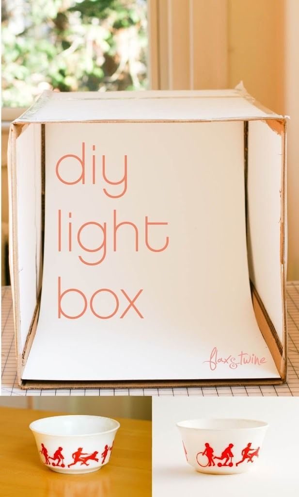 This easy-to-make DIY Light Box is a lifesaver. An inexpensive way to get AWESOME photos. http://www.flaxandtwine.com/2013/02/diy-photo-light-box-a-finish-fifty-project/?utm_campaign=coschedule&utm_source=pinterest&utm_medium=anne%20weil%20%7C%20flax%20and%20twine&utm_content=DIY%20Photo%20Light%20Box%20-%20a%20finish%20fifty%20project