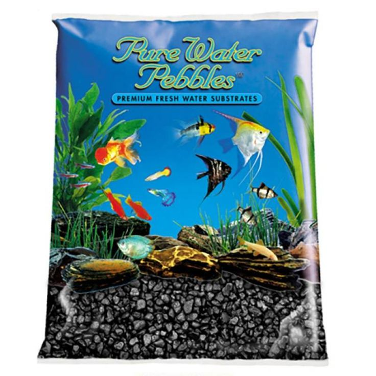 🐠 5lb Pure Water Pebbles Aquarium Gravel Jet Black is a natural freshwater aquarium gravel substrate. Fish-safe 100% acrylic coating. Non-toxic and colorfast, will not alter aquarium chemistry. Ideal for aquariums, ponds, terrariums, crafts, landscaping and