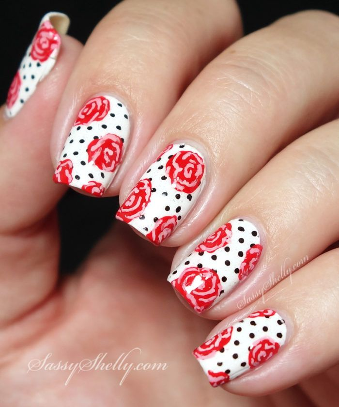 Rose Nail Art Tutorial: Best 25+ Rockabilly Nails Ideas On Pinterest