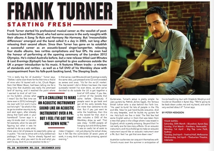 Frank Turner - Mixdown