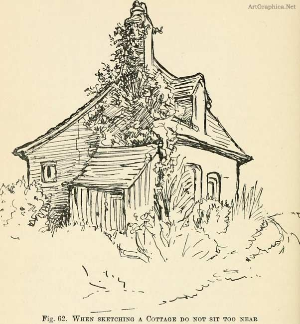 sketching a cottage, perspective book, free tutorial, free book