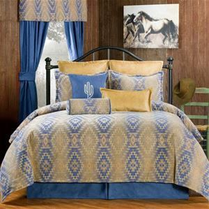 Victor Mill Pueblo Southwestern Bedding Comforter or Duvet Set in Twin, Full, Queen, King, Cal King and a Daybed Set.  #DelectablyYours Southwestern Bed and Bath Decor