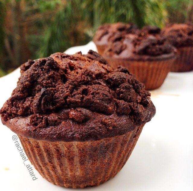 Chocolate crumble muffins