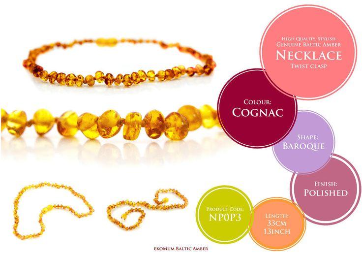 Baby Teething Amber Necklace Genuine Baltic Beads  #teething #amber #teethingremedies #teethingremedy #amberjewelry