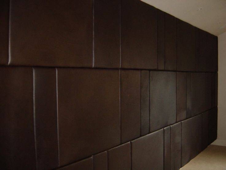Glamour Padded Wall Panels For Bedroom Brown Leather