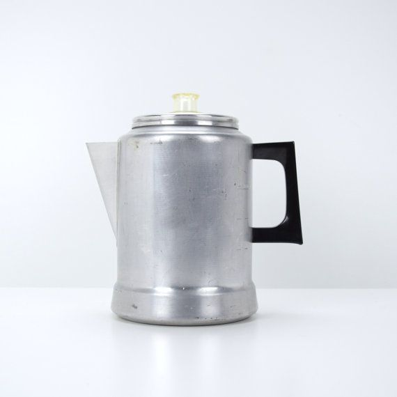 Comet Percolator 9 Cup Aluminum Coffee Pot Stovetop Maker Camping Backng