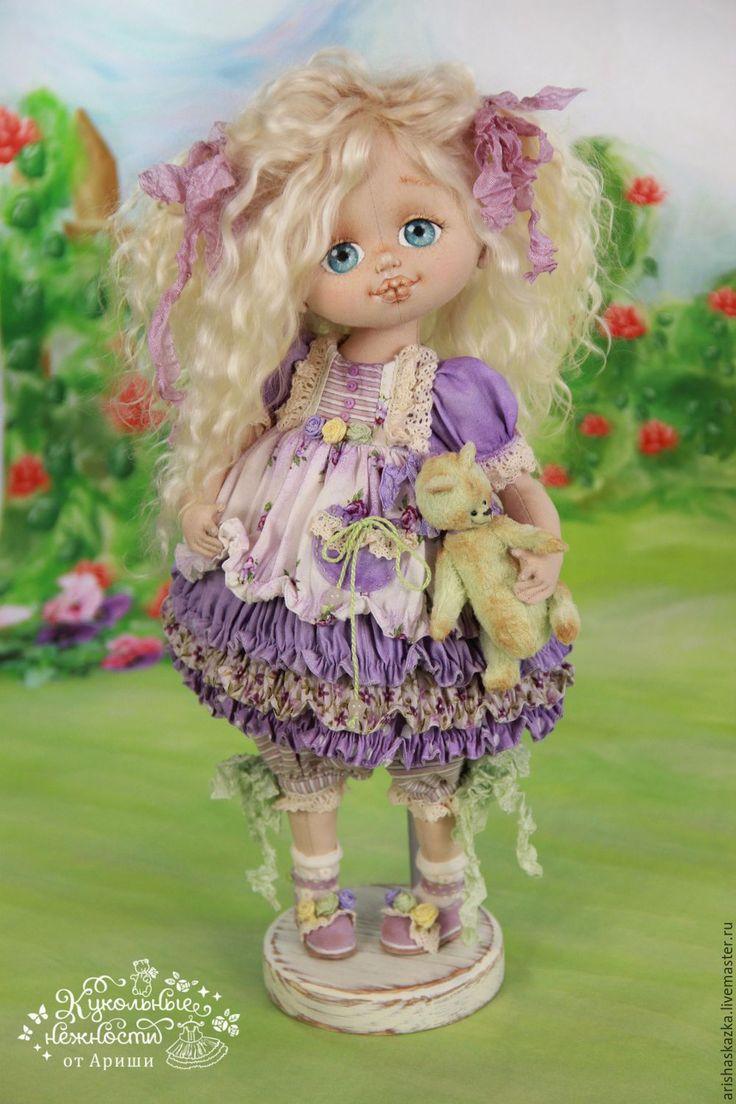 Купить Фиалочка  . Кукла авторская текстильная art doll - кукла ручной работы, кукла