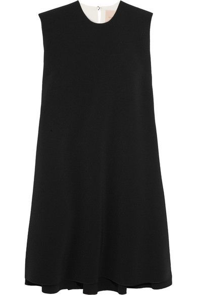 Roksanda - Fuji Two-tone Cady And Crepe Mini Dress - Black - UK14