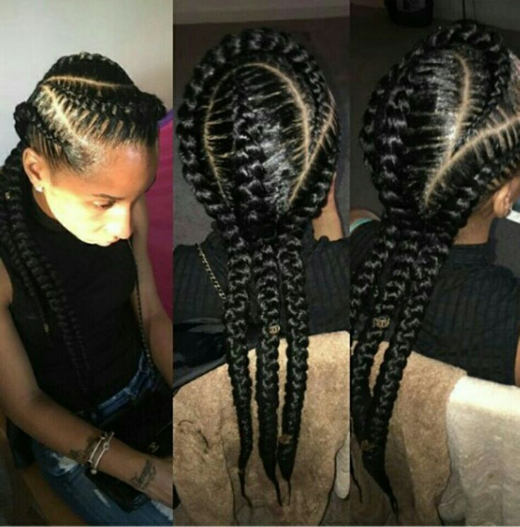 3 feed in cornrows!! I like!! | Natural styles that I'd ...