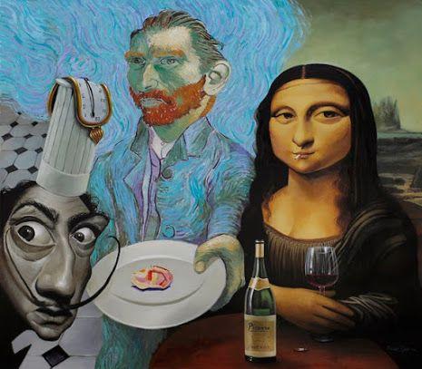 Un trio molt artístic / Un trío muy artístico / A very artistic trio