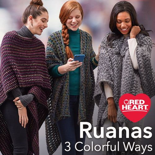Ruanas 3 Colorful Ways -- Fall 2016 promises to be the season that we all enjoy wearing stylish wraps like these ruanas! A ruana is similar to a shawl, but shaped like a poncho with an opening up the front.