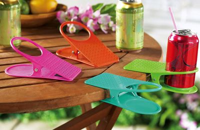 Set Of 4 Drink Clips