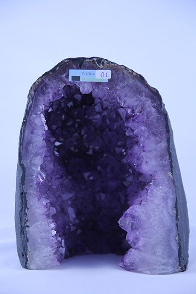 Amethyst Cathedral – 1 Notes: This is the product that you will receive. The weight of this product is 7.1 Kg. Crystal Type: Amethyst, Quartz Crystal Details: Amethyst is the purple variety of Quartz. The purple colouration is due to ferrous iron impurities. Amethyst is found worldwide. Chemical Composition: SiO2 minor Fe4 impurities Weight: 7.1 Kg Average Size: 230mm Average Quantity Per Pack: 1 Read More