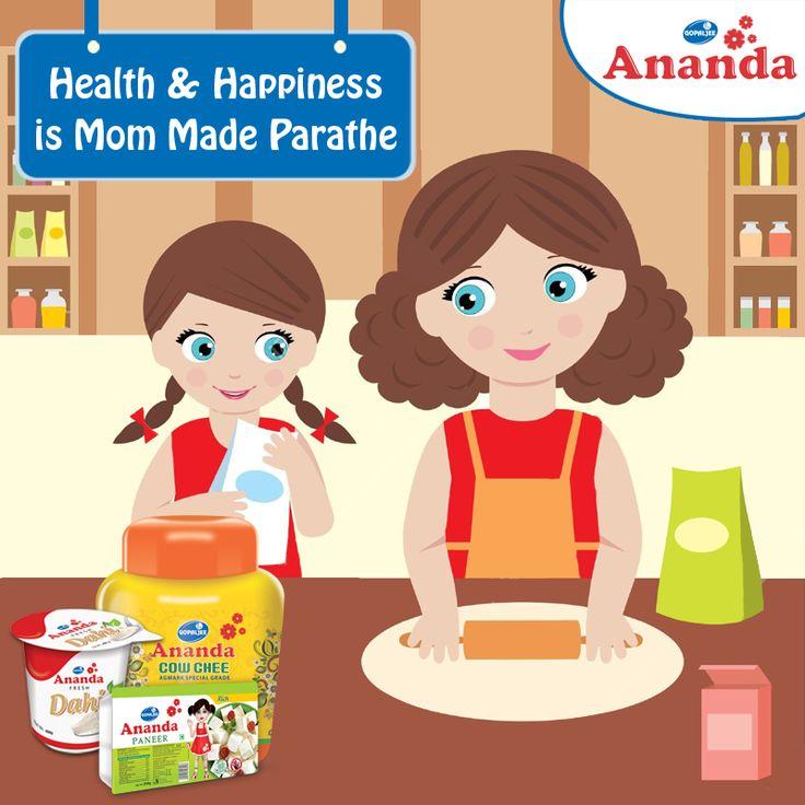 हर माँ के हाथ से बने स्वादिष्ठ पनीर के परांठे का राज़ हैं - गोपालजी आनंदा पनीर, घी और दही!!