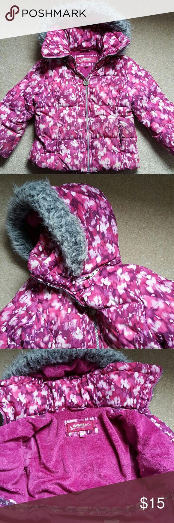 Hawke & Co Kids Winter Jacket Size 4 zip off hood winter machine washable winter jacket Hawke & Co Jackets & Coats