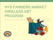 Farmers Market Federation of NY, page on EBT -- page also has pic of their market tokens.