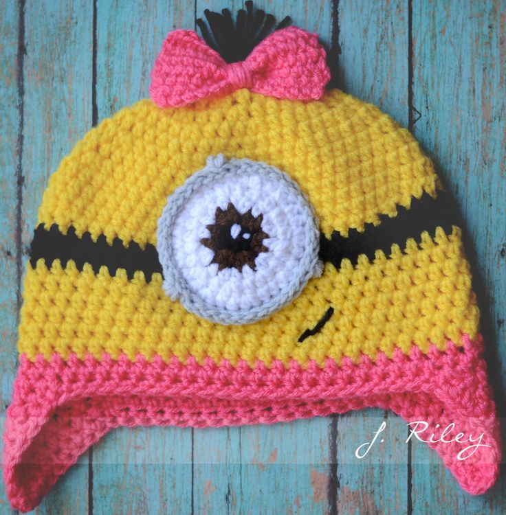 Free Crochet Pattern For Girl Minion Hat : 17 Best images about Minions on Pinterest Minion crochet ...