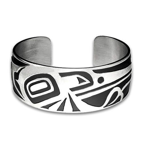 Sterling Silver Hummingbird Northwest Coast Native American Bracelet. Made in USA. Metal Arts Group. $460.00