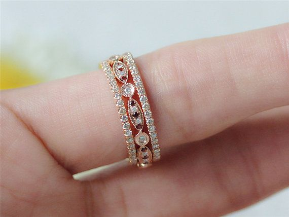 Antique Wedding Set Garnet Amp Diamond Wedding Band Full