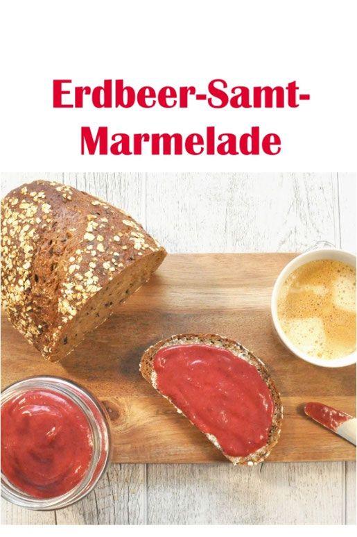 Erdbeer-Samt-Marmelade. Ohne Zucker. Nur 2 Zutaten.