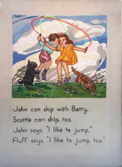 John and Betty: The Earliest Reader for the Little Ones, written and illustrated by Marjorie Howden, was introduced for Victorian school children.