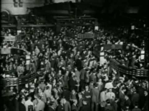 The most devastating stock market crash in the history of the United States;   Its from my favorite documentary by PBS - New York.     This particular part about Wall Street crash of 1929 is from episode 5 of the series with title: Cosmopolis   there are lots of archive photos, footages and drawings throughout the series and in my opinion it was...