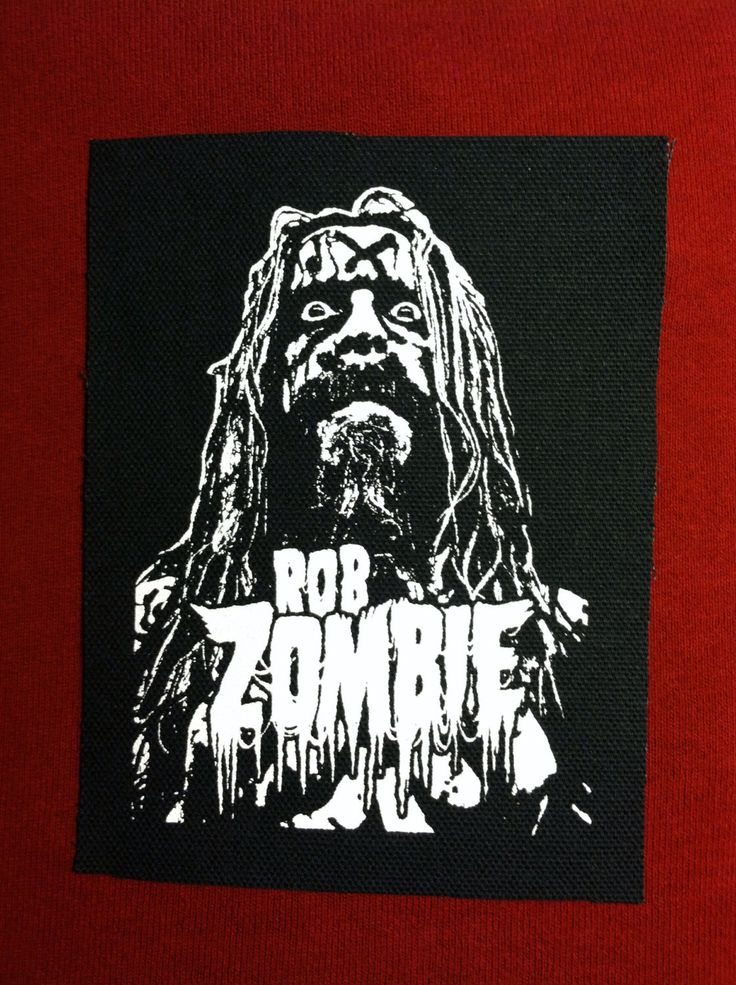 Rob Zombie Cloth Punk Patch by EvilThreadCustoms on Etsy https://www.etsy.com/listing/226907879/rob-zombie-cloth-punk-patch