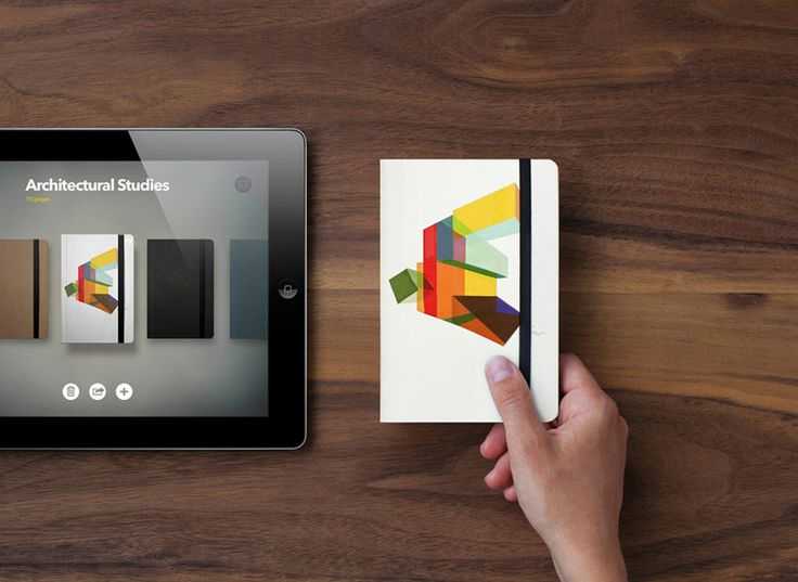 book: print-on-demand iPad publishing system by molesking and fiftythree - designboom | architecture & design magazine