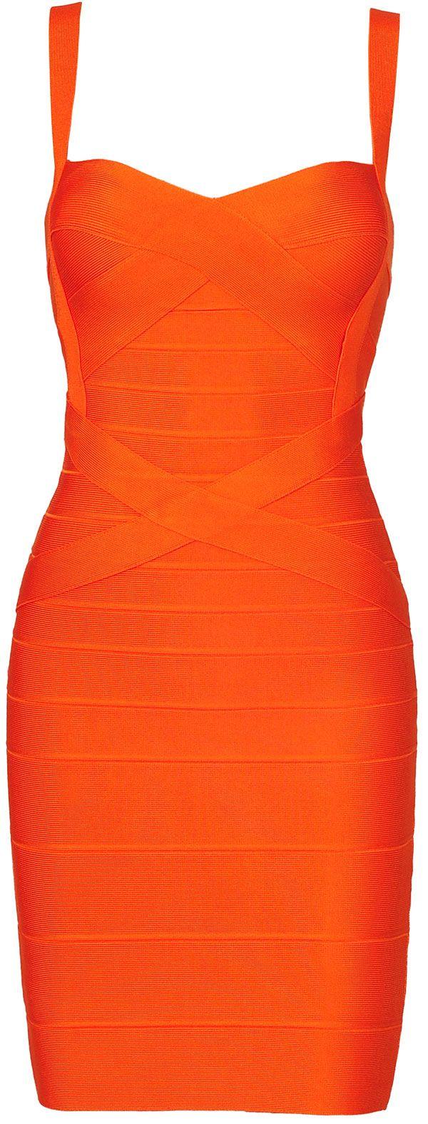 Clothing :: Dresses :: Bandage Dresses :: 'Sunset' Orange Strappy Bandage Bodycon Dress - Inspired by Beyonce - Celeb Boutique - Celebrity Style At High Street Prices| Bodycon Dresses | Bandage Dresses | Party Dresses