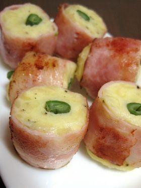 「ポテトいんげんのベーコン巻き」ほくほくポテトにベーコンの旨味♪いんげんの食感がアクセントです。お弁当やおつまみにいかが?【楽天レシピ】