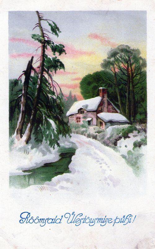 Postkaart Tallinn-Haapsalu postvaguni templiga 1929