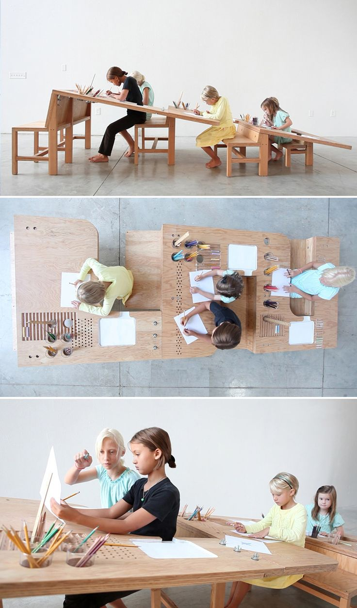 Growth Table, designed for art-making as a family.
