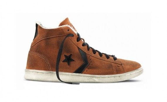 The Converse Pro Leather suede