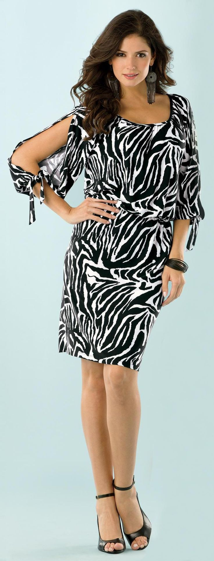 metrostyle.com split-sleeve blouson dress