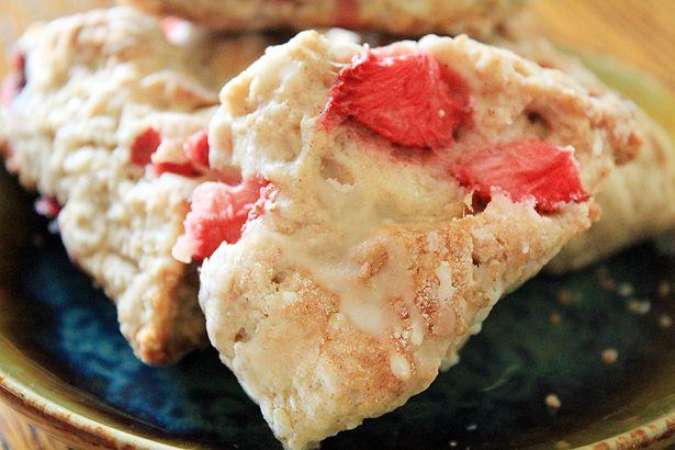 Fresh Strawberry Kefir Scones with Orange Glaze www ...