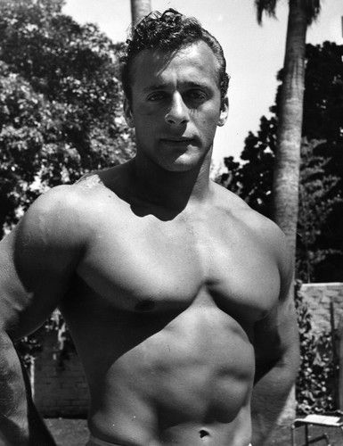 "George Eiferman. Portrait of George Eiferman of Philadelphia, ""Mr. America '48"". Photo dated: July 3, 1950. Herald-Examiner Collection photographs, LAPL00055733, Los Angeles Public Library"