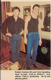 Chris Spedding & Robert Gordon in 1979 New York City Backstage