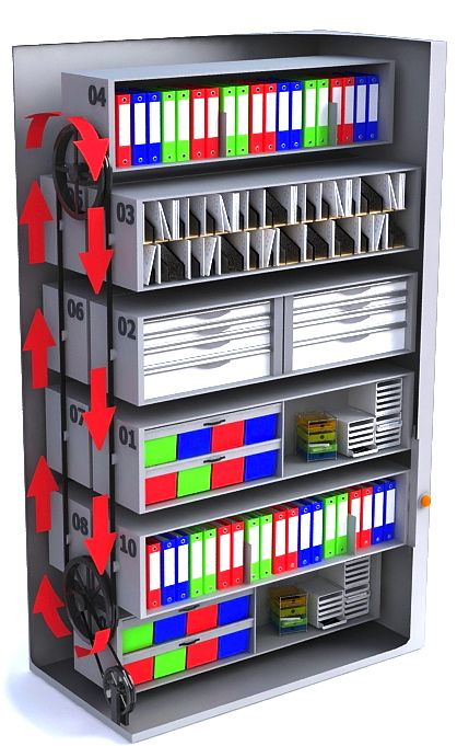 Carousel Vertical Filing Systems How to Increase Your Filing CapacityMaxiFile Filing Systems