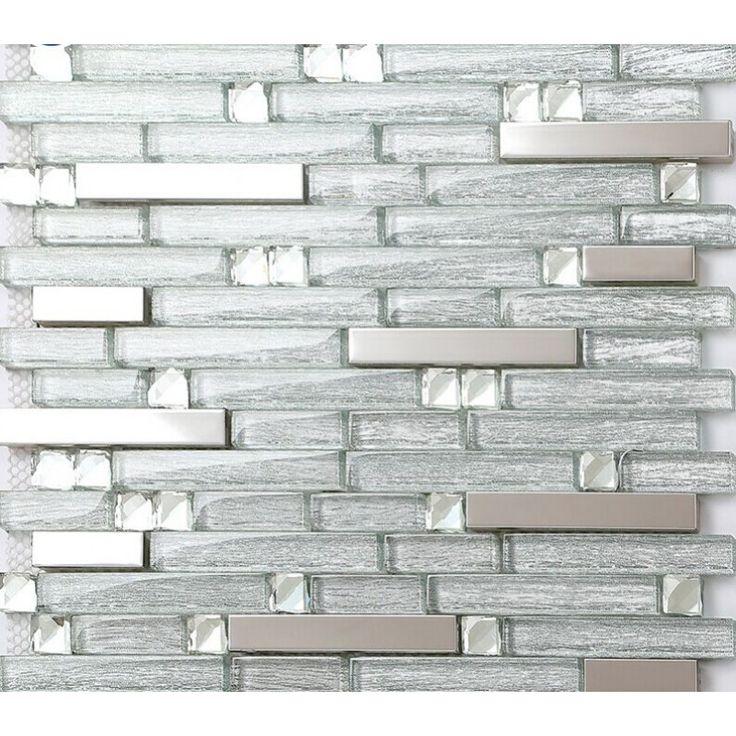 20 best Metal Glass Tiles images on Pinterest | Glass tiles ...