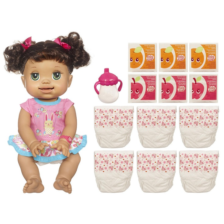 Toys R Us Baby Dolls : Baby alive real as can be doll brunette hasbro