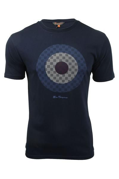 Mens Target T-Shirt by Ben Sherman Short Sleeved