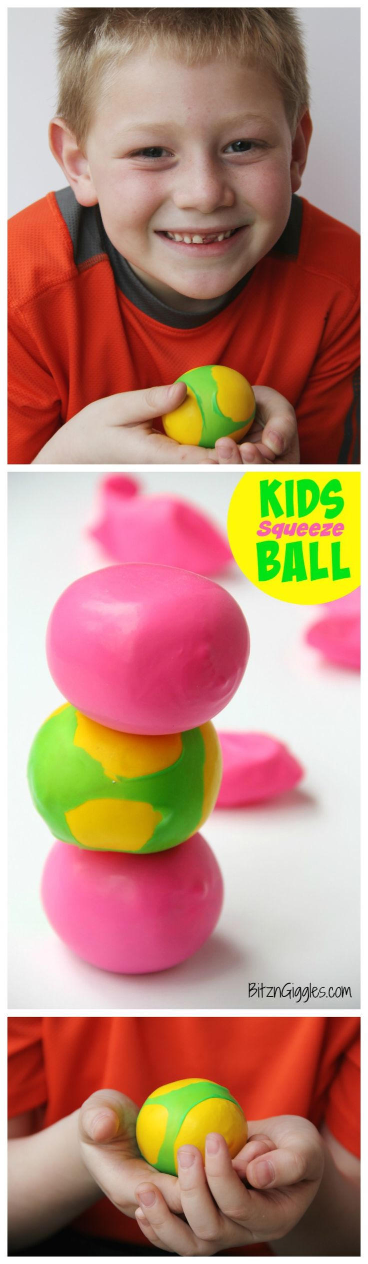 Kids Squeeze Ball - Stress ball, squishy ball whatever you'd like to call it. This toy keeps kids busy for hours and they are simple to make!
