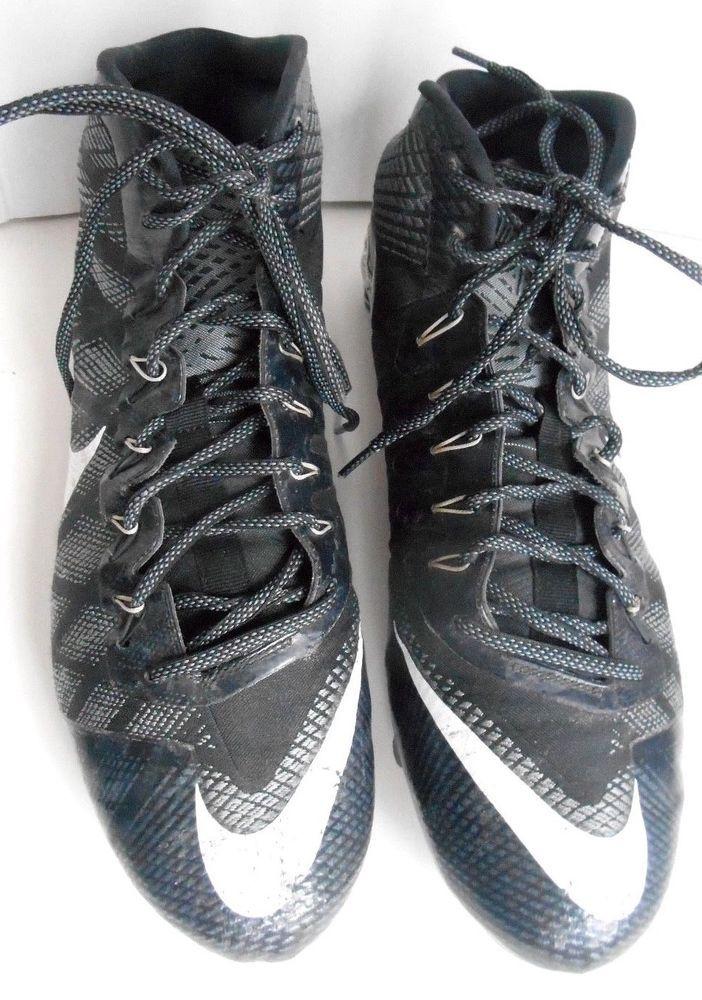 Nike CJ3 Flyweave Elite TD Football Cleats Black 725226-010 Size 13 US