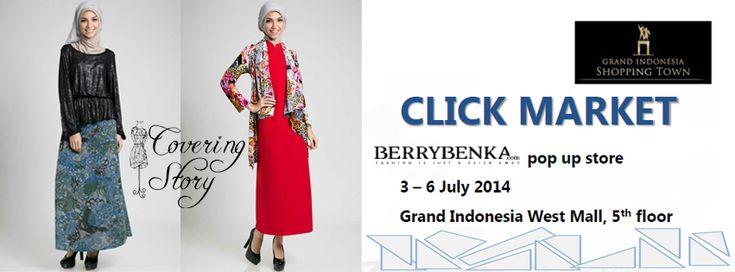 Persiapan Lebaran, Yuk Cek Koleksi Covering Story di Click Market Mall Grand Indonesia, Jakarta Tgl 3-6 July 2014.     #hijab #hijabdress #hijabfashion #hijabStore #HijabIndonesia #HijabOlshop #hijaberscommunity #selebgram #hijabi #hijabee #hijabers #hijabstyle #hijabfashion #hijabshop #syari #islamicfashion