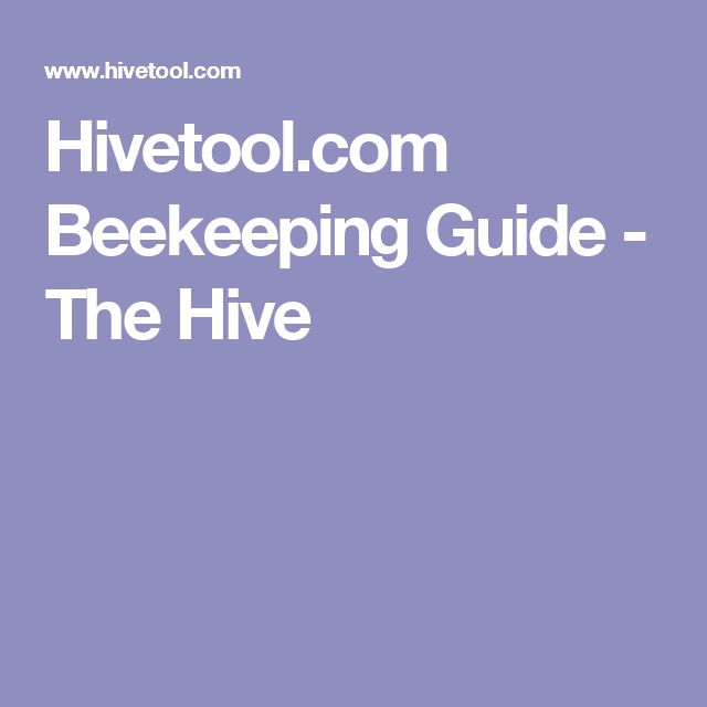 Hivetool.com Beekeeping Guide - The Hive