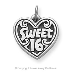 """""""Sweet 16"""" Charm from James Avery ~ Gift Idea for Caitlyn's Sweet 16"""
