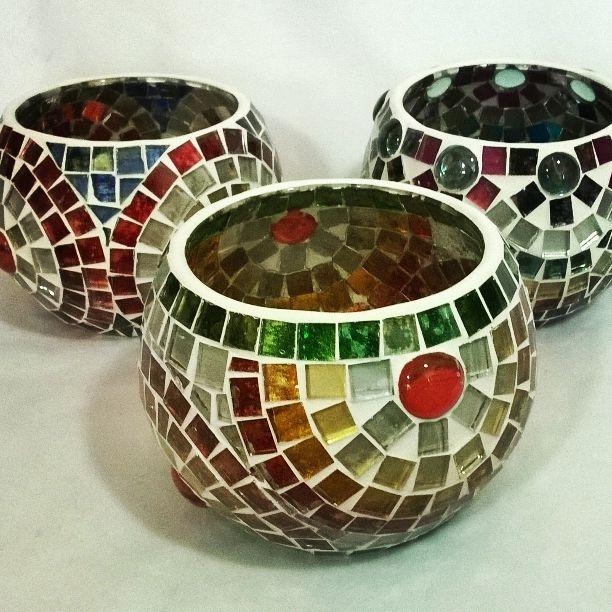 Lámparas para vela flotante Ser Hecho a Mano Mosaico en vidrio