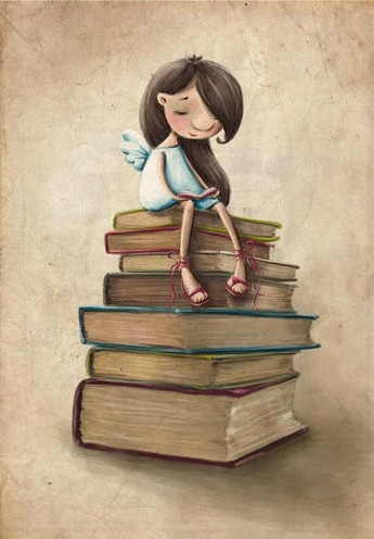 Did you know that miracles grow best on the book dust? Illustration by Elina Ellis