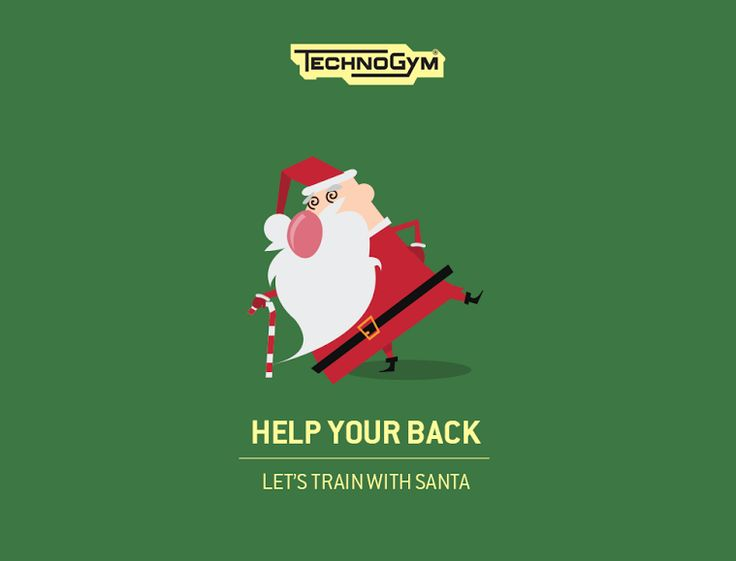 How can you take care of your back? Santa has the perfect workout also for this. #WellnessXmas #HelpYourBack