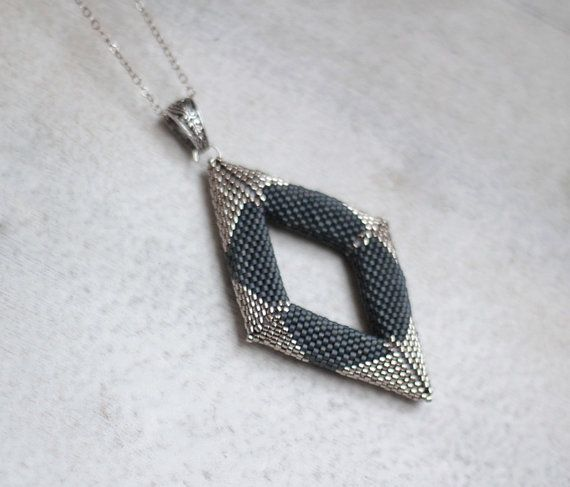 Silver Rhombus Necklace Industrial Style by HeriniaJewelry on Etsy  Stop by my Etsy Shop: www.etsy.com/shop/TeoldDesign